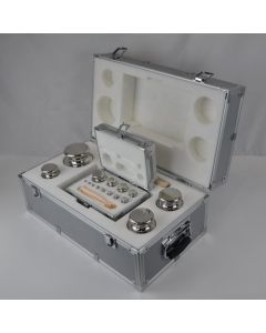 Stainless Steel Metal Case Set of M1 100g - 1mg Weights